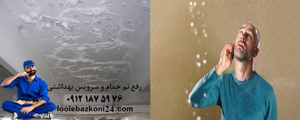 رفع نم حمام و سرویس بهداشتی عباسی